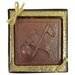 Chocolate Music Note Plaque