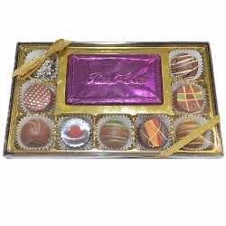 9 Piece  Truffle With a Milk Chocolate Card