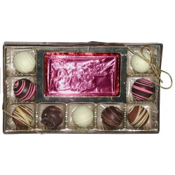 9-piece Truffle Assortment with Happy Easter foiled card